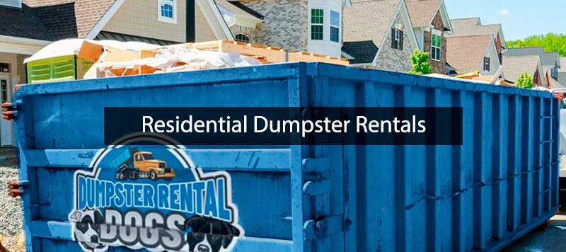 Residential Roll Off Dumpster Rental