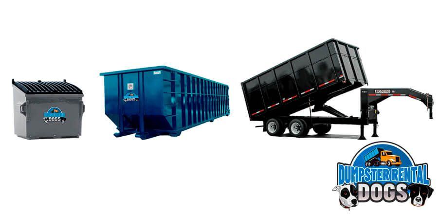 The five different types of dumpster sizes